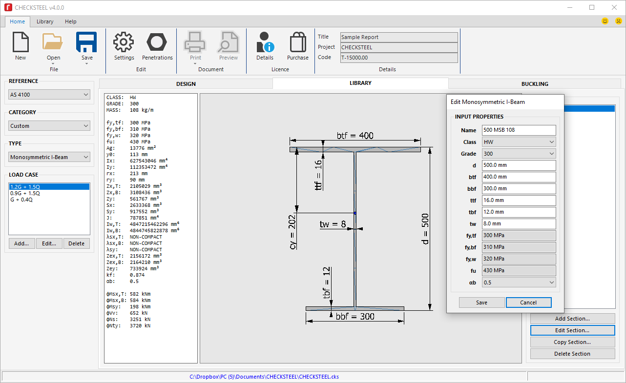 CHECKSTEEL Structural Steel Design Software | revolutio